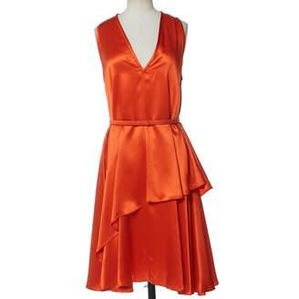 Givenchy Orange Silk Dresses