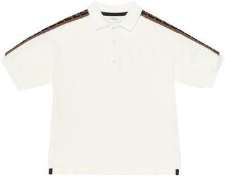 Fendi Kids FF cotton polo shirt
