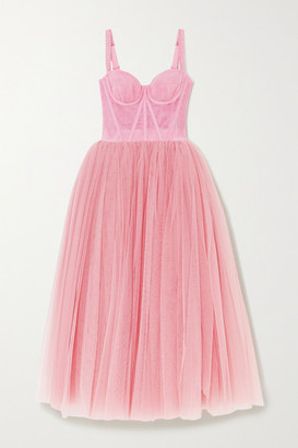 Dolce & Gabbana Tulle Midi Dress - Pink