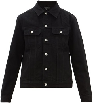 A.P.C. Classic Cotton-denim Workers Jacket - Mens - Black