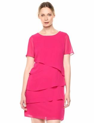 SL Fashions Women's Petite Pebble Tier Dress