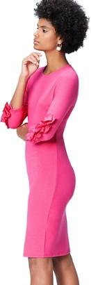 Find. Amazon Brand Women's Regular Waist and Crew Neck Dress