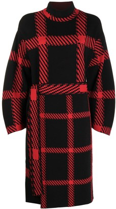 Stella McCartney Check-Print Belted Dress
