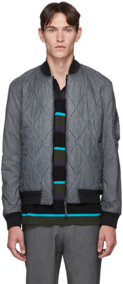 HUGO BOSS Grey Quilted Top Dyed Jacket