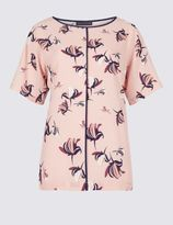 Marks and Spencer Elevated Floral Print Shell Top