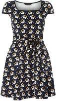 Dorothy Perkins Navy retro floral print dress