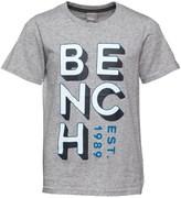 Bench Boys Brand Carrier T-Shirt Grey Marl