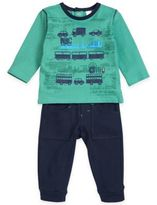 Petit Lem Petit LemTM 2-Piece Road Trip Long-Sleeve Shirt and Pant Set in Green/Navy