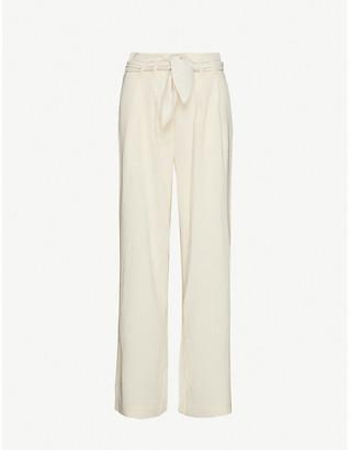 Samsoe & Samsoe Nellie wide-leg high-rise stretch-woven trousers