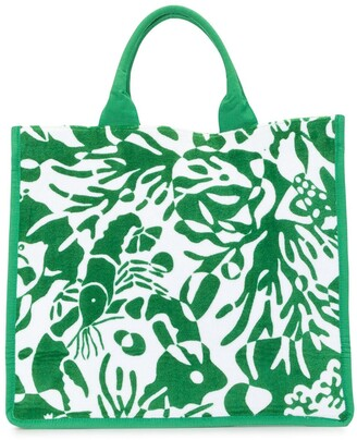 Eres Tropical Print Beach Bag