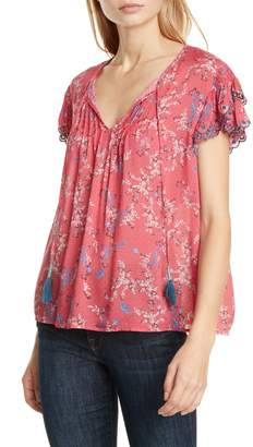 Dolan Tabitha Floral Flutter Sleeve Top