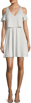 BCBGeneration Women's Easy Cold Shoulder Flared Dress