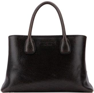 Miu Miu Logo Top Handle Handbag