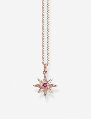 Thomas Sabo Star rose gold-plated sterling silver pendant necklace
