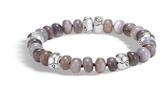 John Hardy Bamboo Bead Bracelet in Silver with Gemstone