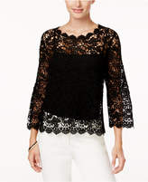 Alfani Cotton Crocheted Top, Created for Macy's