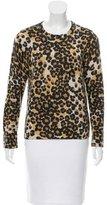 Equipment Cashmere Leopard Print Sweater