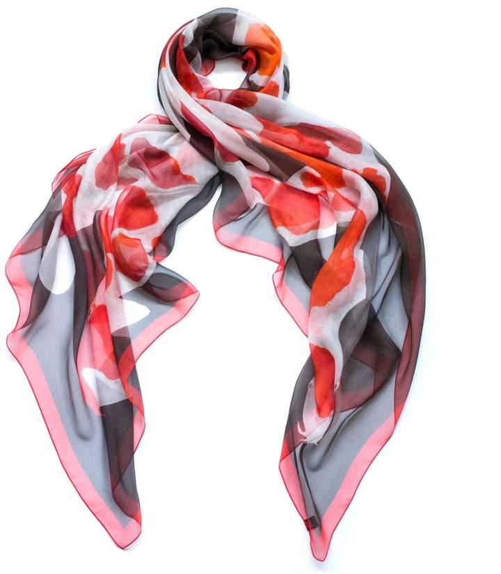 Arlette Ess Koi I Oversized Silk Chiffon Scarf