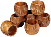 One Kings Lane Vintage Carved Wood Napkin Rings