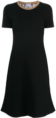 Salvatore Ferragamo Short-Sleeve Knitted Dress