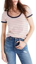 Madewell Stripe Recycled Cotton Ringer Tee