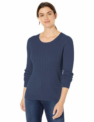 Amazon Essentials Women's Lightweight Long-Sleeve Cable Crewneck Sweater