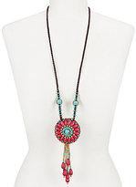 Natasha Accessories Sante Fe Long Pendant Necklace