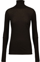 Enza Costa Cotton And Cashmere-Blend Turtleneck Sweater