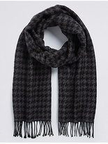 M&S Collection Men's Dogtooth Woven Scarf
