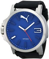 Puma Men's PU103461014 Ultrasize 50 Silver Blue Analog Display Japanese Quartz Black Watch