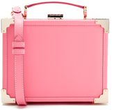 Aspinal of London Women's Trunk Smooth Bag Pink