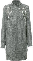 Ermanno Scervino faux pearl embellished sweater dress