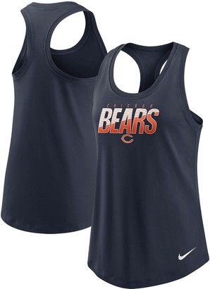Nike Women's Navy Chicago Bears Light Impact Performance Racerback Tank Top