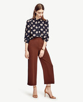 Ann Taylor Tall Piped Fluid Ankle Pants