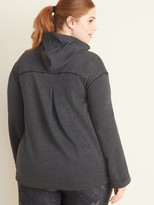 Old Navy Plus-Size Pleated-Back French-Terry Swing Hoodie