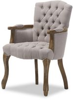 Baxton Clemence Armchair in Beige