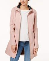 Calvin Klein Petite Hooded A-Line Softshell Raincoat