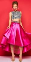 Mac Duggal Two Piece Waterfall Dress