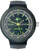 Lacoste Men's 2010656 Borneo Analog Display Japanese Quartz Black Watch