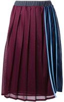 Muveil pleated striped skirt
