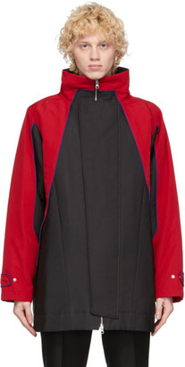 Keenkee Black and Red Flap Parka