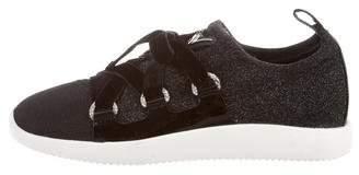 Giuseppe Zanotti Lace-Up Glitter Sneakers