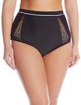 Jessica Simpson Women's Plus-Size Wild Thing High Waist Bikini Bottom
