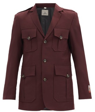 Boramy Viguier Single-breasted Flap-pocket Wool Jacket - Red