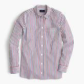 J.Crew Petite classic-fit boy shirt in red-and-blue stripe