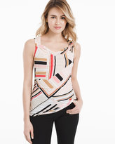 White House Black Market Sleeveless Geo Printed Shell Top