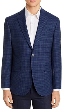 Jack Victor Micro-Check Regular Fit Sport Coat