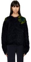 Acne Studios Navy Fhira Hairy Sweater