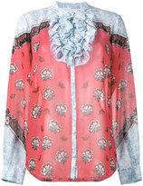 Mary Katrantzou Ronda floral print ruffle blouse