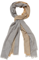 "Badgley Mischka Lightweight Colorblock Merino Wool Long Scarf, 82"" x 32"""